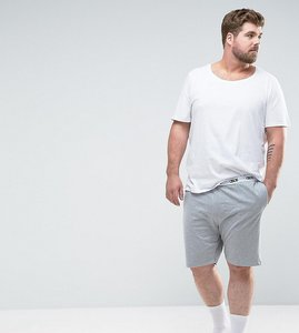 Read more about Asos plus jersey pyjama short with branded waistband - grey