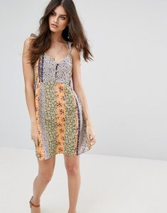 Read more about Vero moda floral printed skater dress - multi