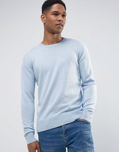 Read more about French connection lightweight crew neck jumper - blue