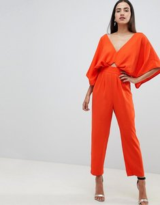 Read more about Asos design jumpsuit with kimono sleeve and peg leg - orange