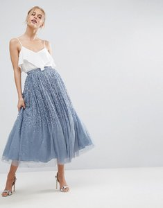 Read more about Asos tulle prom skirt with embellishment - blue
