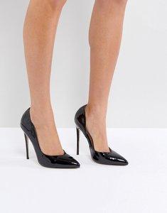 Read more about Public desire sachi black patent court shoes - black patent