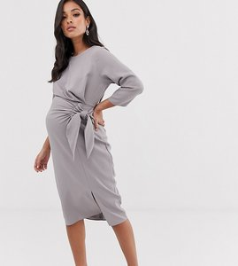 Read more about Asos design maternity wrap detail midi dress