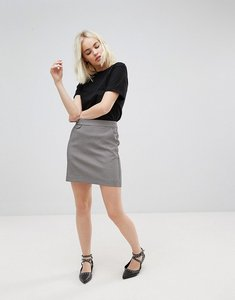Read more about New look check a-line mini skirt - brown pattern