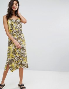 Read more about Warehouse amazon print dress - yellow