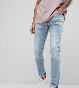 Read more about Replay jondrill distressed skinny jeans lightwash - lightwash 011