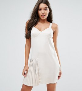Read more about Missguided pleat detail dress - nude