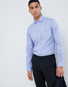 Read more about Polo ralph lauren slim fit luxury oxford shirt player logo estate collar in blue - blue