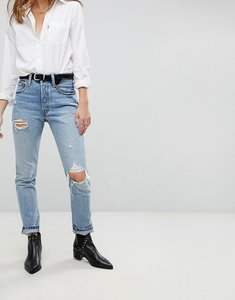 Read more about Levi s 501 high rise skinny jean with rips - cant touch this
