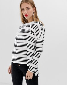 Read more about Noisy may stripe high low long sleeve t-shirt