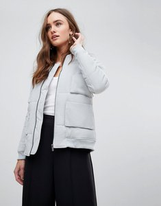 Read more about Finders keepers cecil minimal bomber jacket - light grey marle