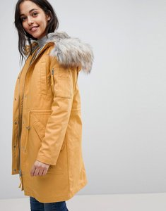 Read more about Asos parka with detachable faux fur liner - mustard