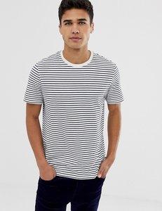 Read more about Burton menswear blue striped t-shirt in ecru - ecru
