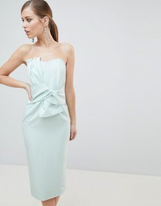 Read more about Lavish alice bandeau midi dress with bow detail - mint