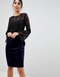 Read more about Paper dolls long sleeve lace pencil dress - black
