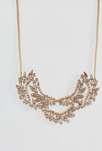 Read more about Johnny loves rosie statement necklace - gold