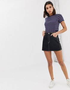 Read more about Abrand denim skirt with contrast stitching co-ord