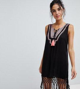 Read more about Akasa tassel detail beach dress - black
