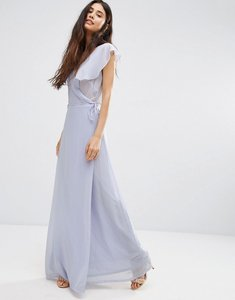 Read more about Oh my love wrap maxi dress - cornflour blue