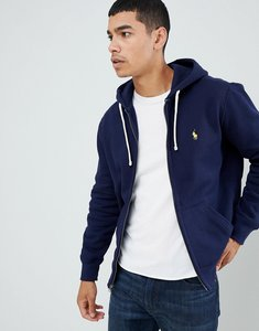 Read more about Polo ralph lauren plain jersey zip up hoodie in blue - blue