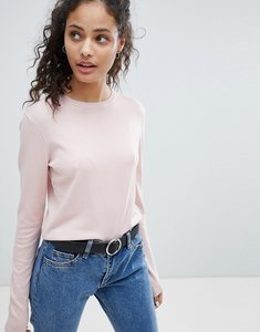 Read more about Bershka cropped knitted light weight jumper - pink