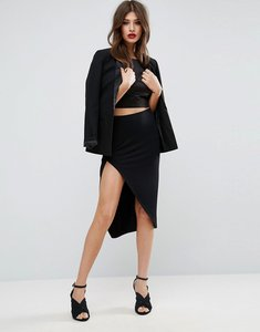 Read more about Asos wrap pencil skirt - black