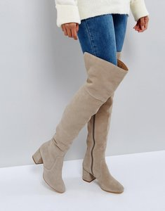 Read more about Office krown suede over the knee boots - grey