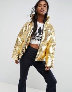 Read more about Asos metallic puffer jacket - gold