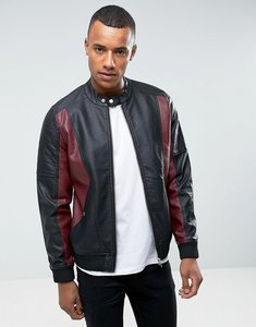 Read more about Barney s originals faux leather jacket - black