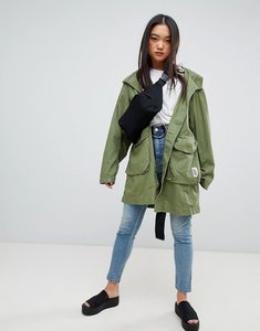Read more about Cheap monday worka lightweight festival parka jacket - bleaced olive