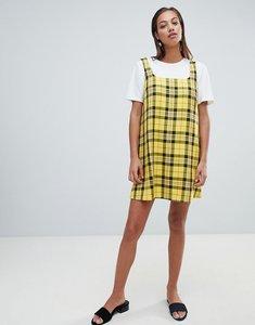 Read more about Asos design mini dress in check - multi