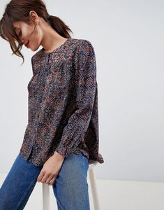 Read more about French connection marietta printed blouse - dark pewter multi