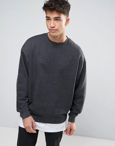 Read more about Asos oversized sweatshirt in charcoal marl - charcoal marl