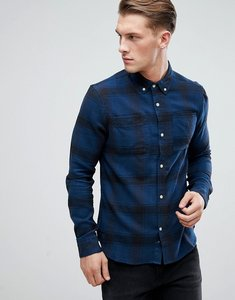 Read more about D-struct flannel check shirt - navy