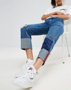Read more about Asos deep turn up jeans with bound selvedge - darkwash blue