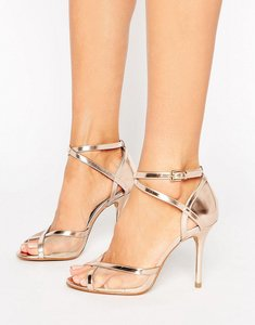 Read more about Head over heels by dune meryl rose gold heeled sandals - rose gold