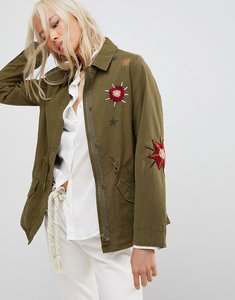 Read more about Maison scotch floral embroidered utility jacket - 17 combo a