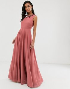 Read more about Asos design maxi dress with 3d embellished neckline