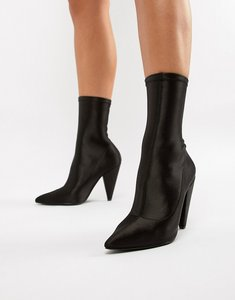 Read more about Asos design elope pointed sock boots - black
