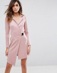 Read more about Asos premium blazer dress with waist buckle - mink
