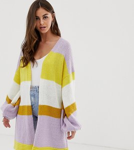 Read more about Prettylittlething oversized cardigan in colour block