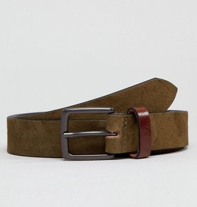 Read more about Peter werth khaki suede belt with contrast keeper - brown