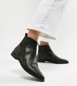 Read more about Asos design atom leather chelsea boots - black leather