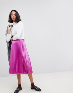 Read more about Vero moda pleated midi skirt - pink