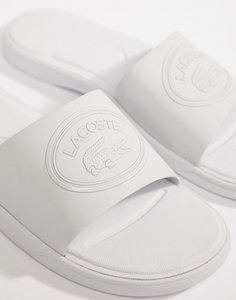 Read more about Lacoste l 30 sliders in white - white
