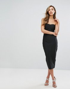 Read more about Amy lynn occasion bandage bandeau midi skirt and crop top co-ord - black