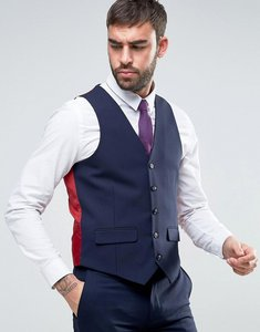 Read more about Harry brown slim fit plain waistcoat - navy