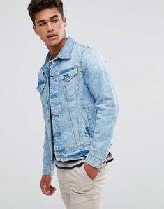 Read more about Esprit denim jacket in washed blue denim - denim 904