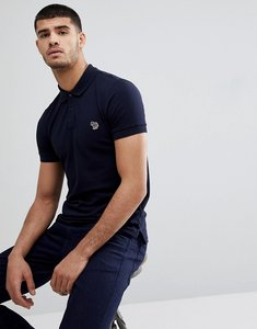Read more about Ps paul smith slim fit zebra logo polo in navy - 49