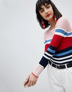 Read more about Esprit stripe knitted jumper - multi